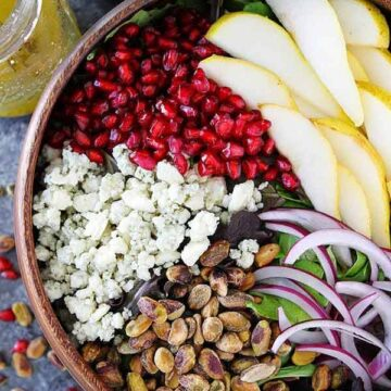 Pear pomegranate salad, recipe by Two Peas & Their Pod