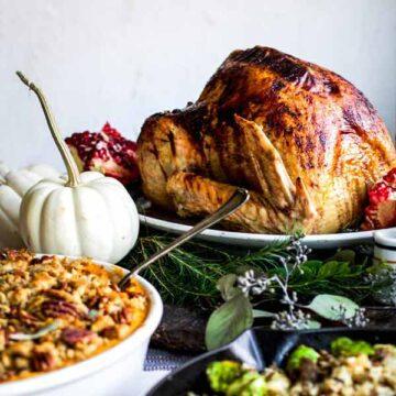 Rosemary pomegranate maple glazed turkey, recipe by My Diary of Us