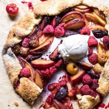 Galette with stone fruit - recipe by Half Baked Harvest