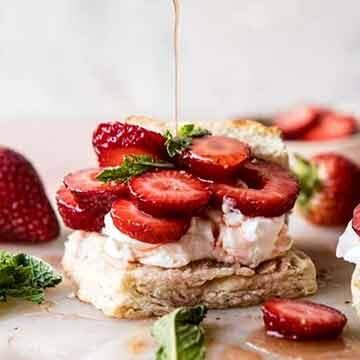Strawberry bourbon shortcakes by Half Baked Harvest