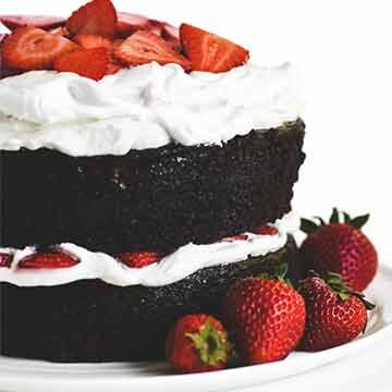 Chocolate strawberry whipped cream cake recipe by The View from Great Island