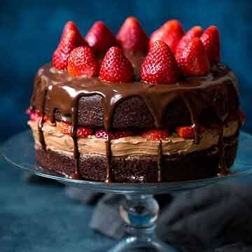 strawberry chocolate cake by Two Peas and Their Pod