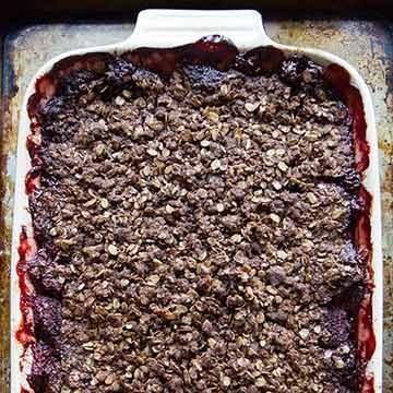 Strawberry chocolate crisp by Heather Christo