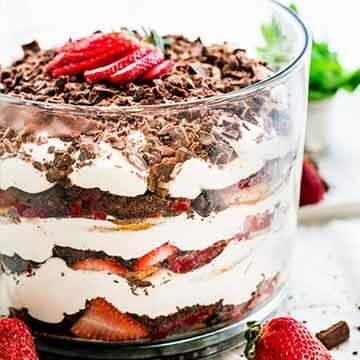Strawberry tiramisu trifle by Jo Cooks