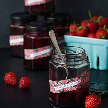 strawberry hibiscus jam recipe by Love and Olive Oil