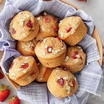 strawberry muffins by Love & Lemons