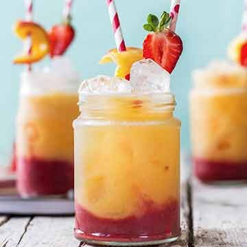Peach strawberry fizz recipe by Use Your Noodles