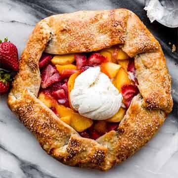 Strawberry peach galette recipe by Sally's Baking Addiction
