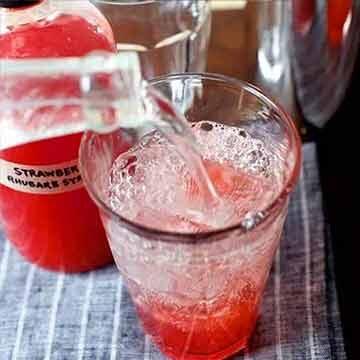 Strawberry rhubarb soda syrup recipe by Smitten Kitchen