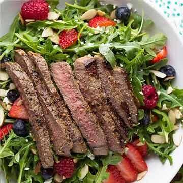 strawberry steak salad by Sweet Peas and Saffron