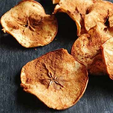Spiced apple chips recipe by Rhubarbarians