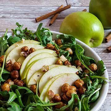 Apple harvest salad with cinnamon chickpeas by Ask The Food Geek