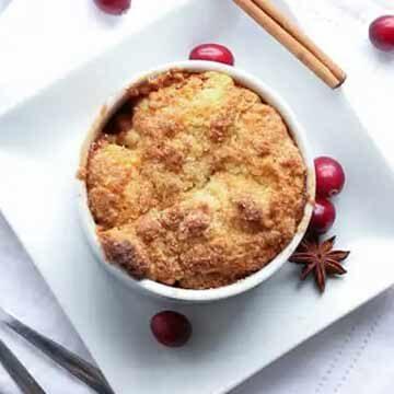 Bourbon apple cranberry cobbler recipe by Vanilla and Bean