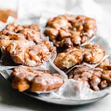 Bourbon apple fritters recipe by Broma Bakery