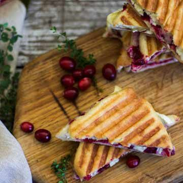 Brie and roasted thyme cranberry paninis recipe by My Diary of Us