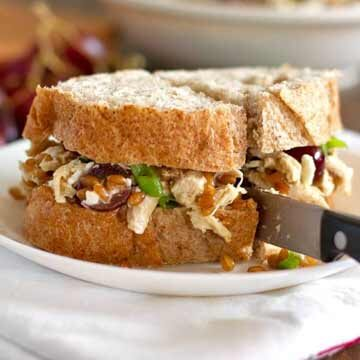 Chicken salad with grapes, grains, and feta recipe by Pinch of Yum