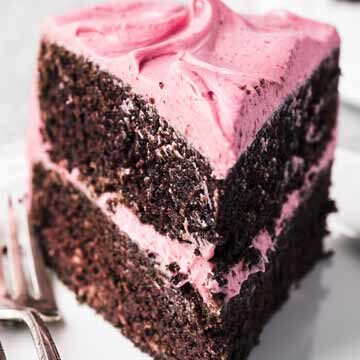 Chocolate cake with cranberry buttercream recipe by The View From Great Island