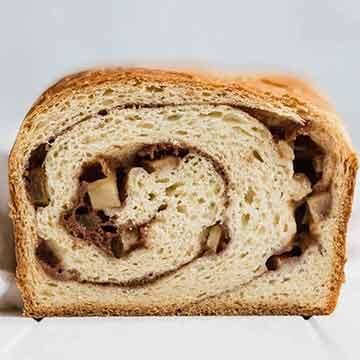 Cinnamon apple swirl bread by Broma Bakery
