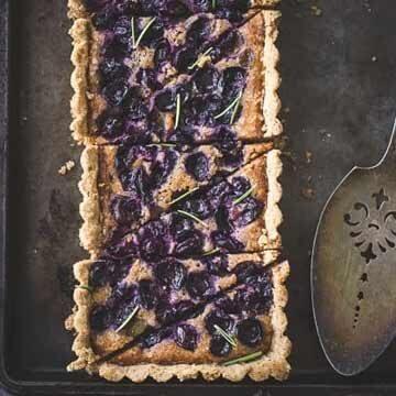 Concord grape & walnut fangipane tart with a gluten-free rosemary crust by The Bojon Gourmet
