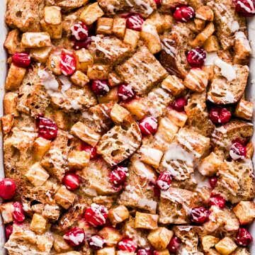Cranberry apple french toast casserole by Recipe Runner