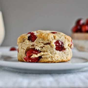 Cranberry whole wheat buttermilk biscuits recipe by How Sweet Eats