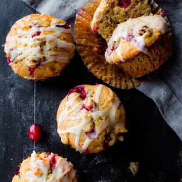 Cranberry cardamom spice muffins recipe by Sally's Baking Addiction