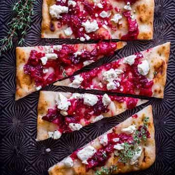 Roasted cranberry and goat cheese flatbread by Healthy Seasonal Recipes