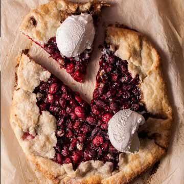Rustic cranberry galette recipe by Salt & Lavender