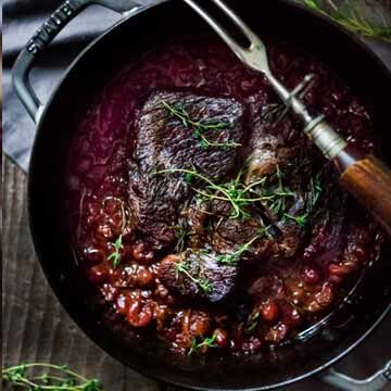Cranberry pot roast recipe by Feasting At Home