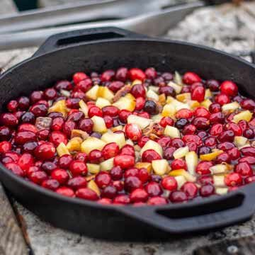 Smoked cranberry sauce with bourbon & blood oranges recipe by Kitchen Laughter