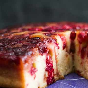 Cranberry upside down cake by Simply Recipes