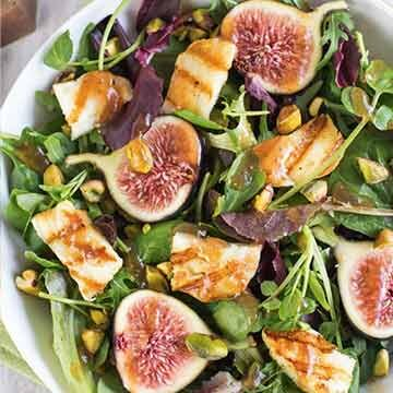 Fig and halloumi salad recipe by Amuse Your Bouche