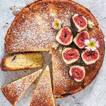 Fig and semolina cake by Recipes from a Pantry
