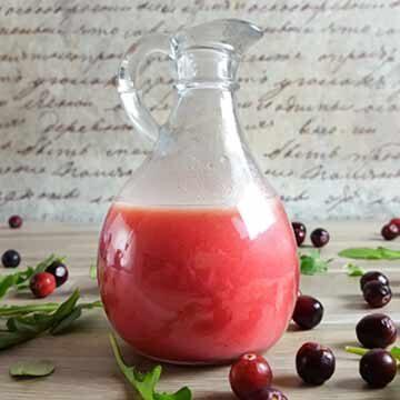 Cranberry recipes: salad dressing