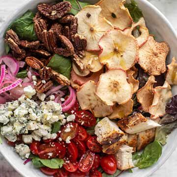 Fuji apple chicken salad with champagne vinaigrette by How Sweet Eats