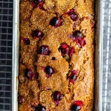 Healthy lemon-cranberry bread recipe by Sweet Peas and Saffron