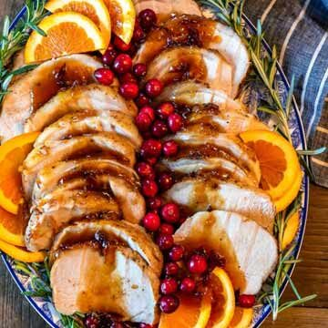 Orange cranberry pork loin roast recipe by The Cookie Rookie