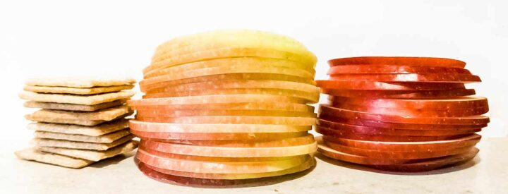 Apple chips sliced thin